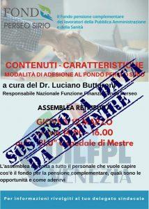 SOSPESE LE ASSEMBLEE GENERALI SUL FONDO PERSEO SIRIO